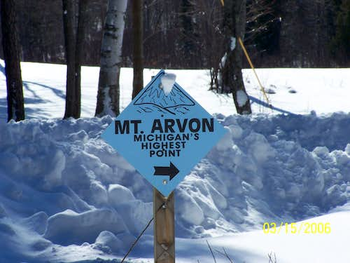 Mt. Arvon Sign