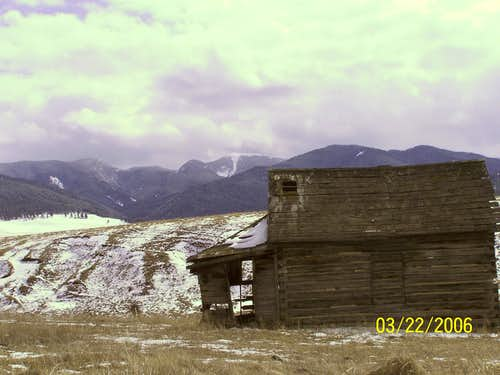 Old house, and the Madison Range