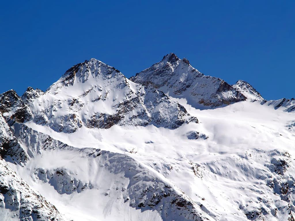 NW side of Punta di Forzo <i>(3296 m)</i> and ...