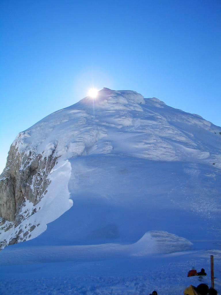 Sun above Lucin Vrh