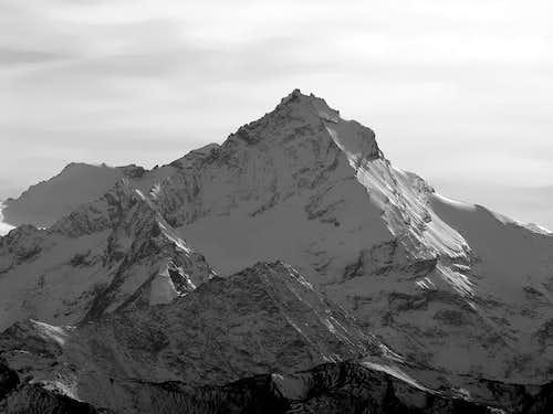 NE side of Grivola <i>(3969 m)</i> seen from Becca di Viou <i>(2856 m)</i>