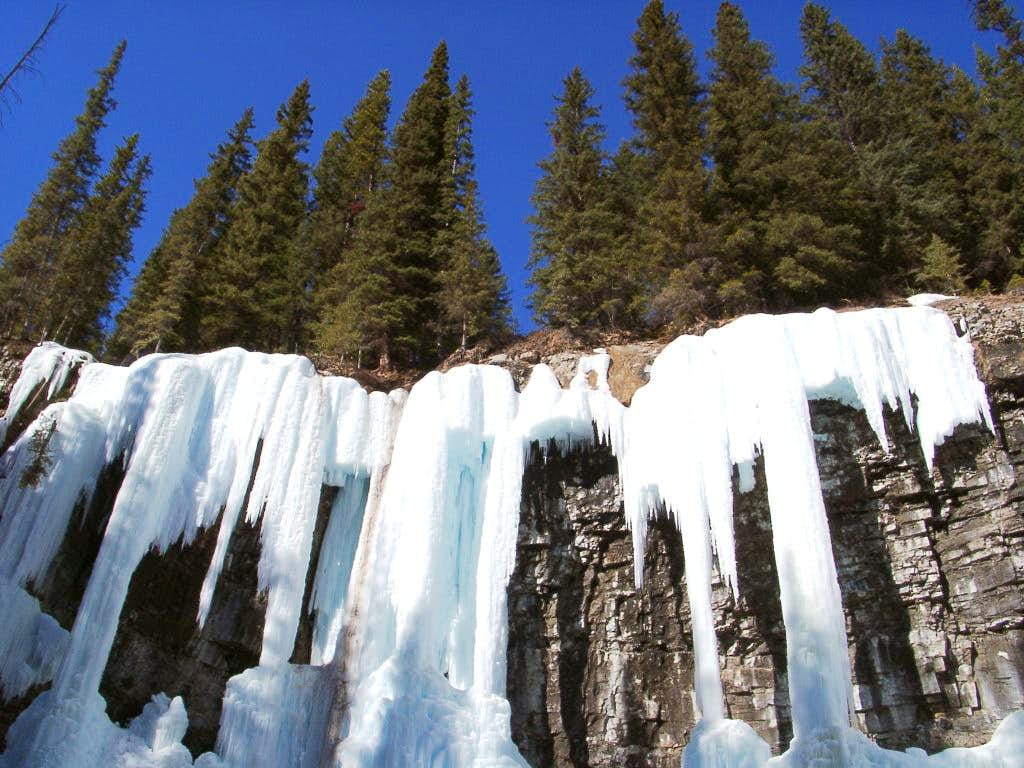 Upper Johnston Canyon Falls Ice