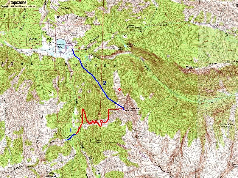 Whitehouse Mountain's West Face and Northwest Face Routes