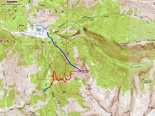 Whitehouse Mountain\'s West Face and Northwest Face Routes