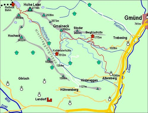 Gmeineck map