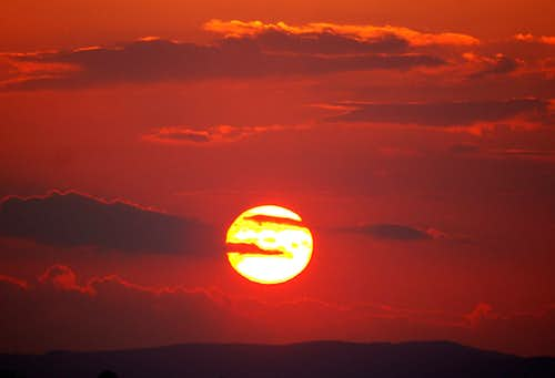 Fiery sunset over Hallgarter Zange