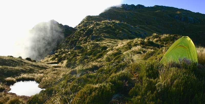 Camp on Ridge Above Mt. Fox