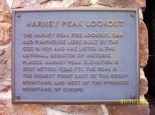 Harney Tower Info Sign
