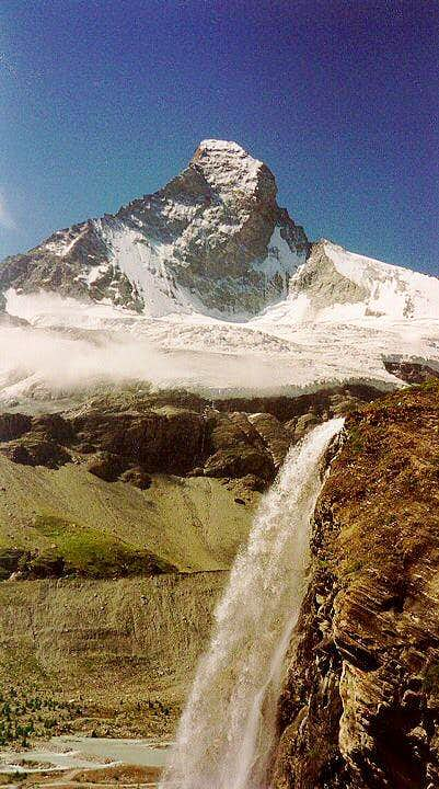 The Matterhorn waterfall