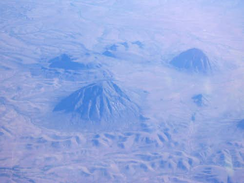 Wind Mtn & San Antonio Mtn from the air