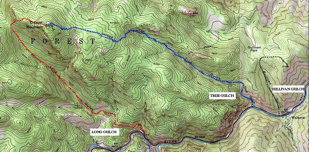 Other routes on Crosier Mountain.
