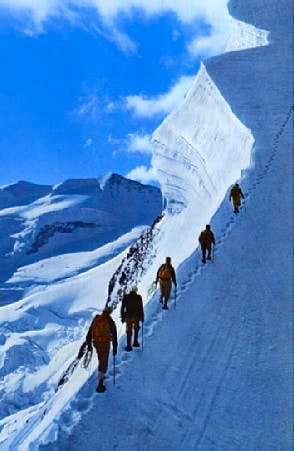 climbing on the Bianco ridge...