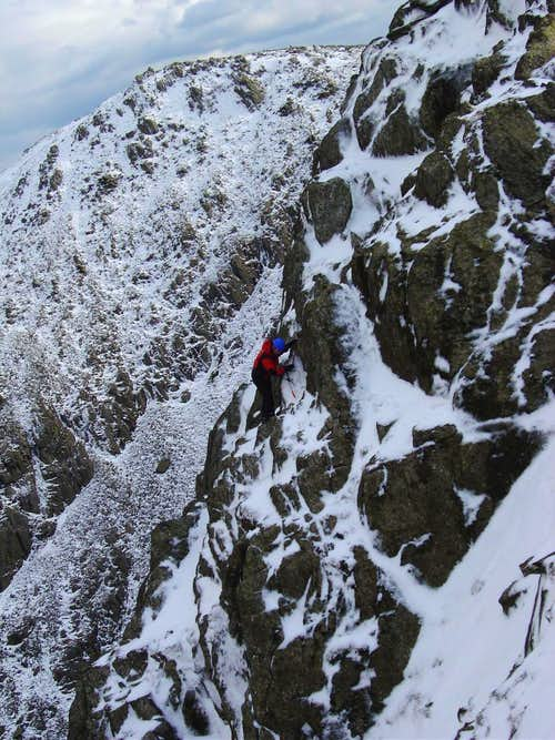 Mixed climbing on Great Carrs Old Man group