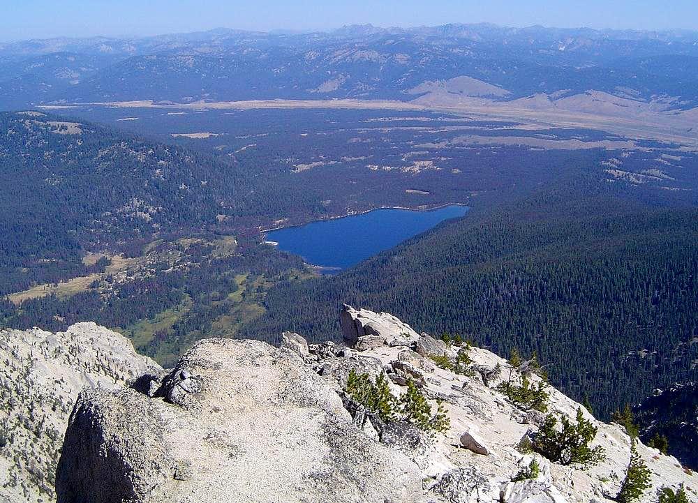 View down to Stanley Lake
