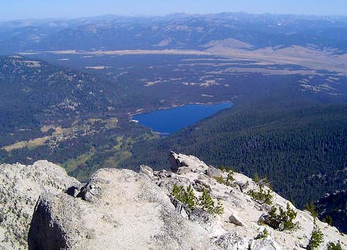 View down to Stanley Lake