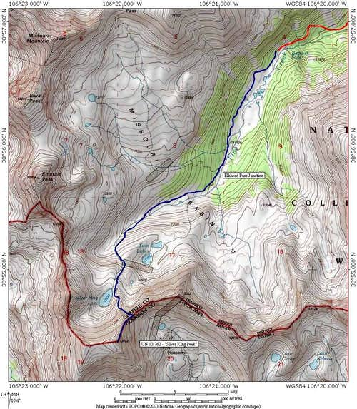 Silver King Topo Map