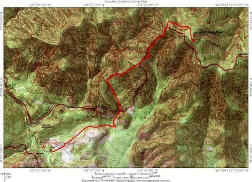 Santa Lucia trail to the...