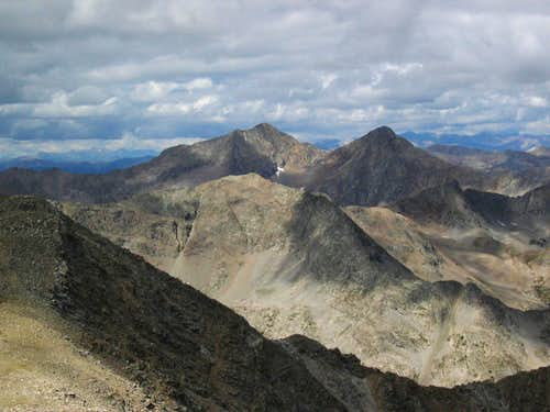 Ice Mountain and North Apostle from the summit