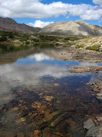 Mount Belford reflected in Twin Lakes