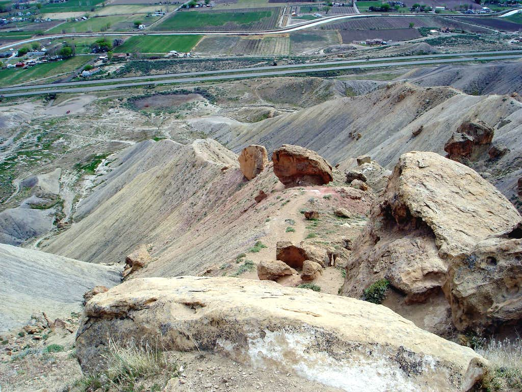 Steep beginning of Mt. Garfield trail