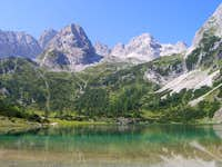 Mountains and lakes in the Alps