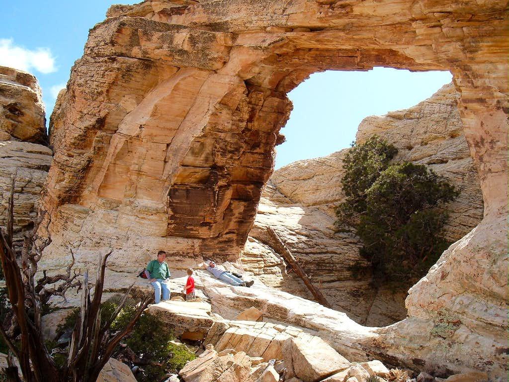 Arch below Bridge Mountain