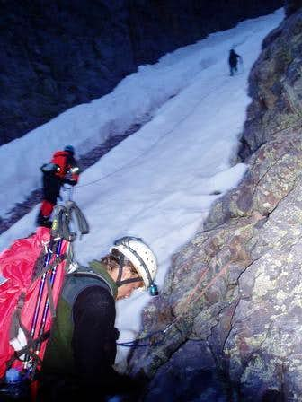 Naked Lady couloir on Mt. Snowdon