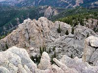 Typical Tenney Crags formations