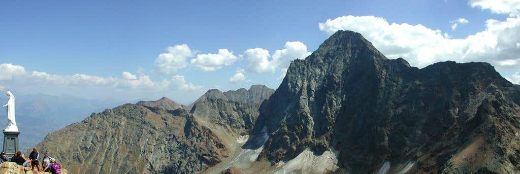 View from the summit of Becca di Nona <i>3142m</i>