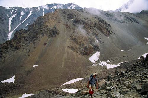 Up towards the summit