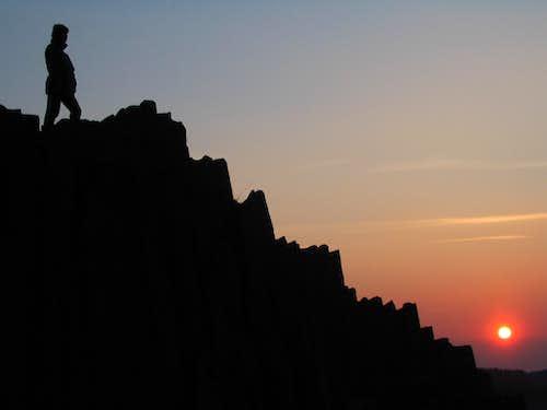 Sunset as seen from Panska skala