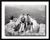 James and Barbara Harlow at summit, 1938