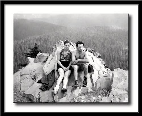 James and Barbara Harlow at summit, 1938