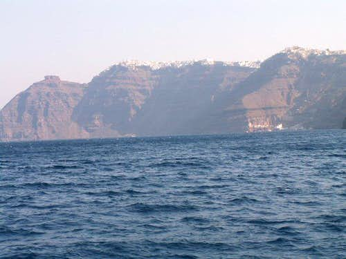Caldera from seaside