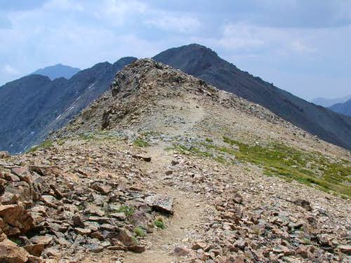 Missouri\'s ridge with summit...