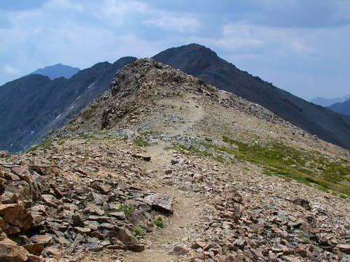 Missouri's ridge with summit...