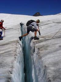 Crevasse jump