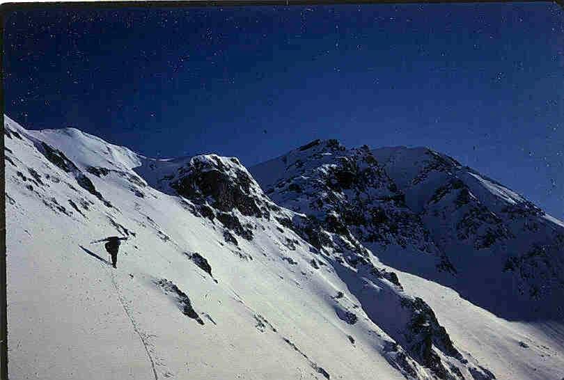 Climber Ascending Cairn Peak