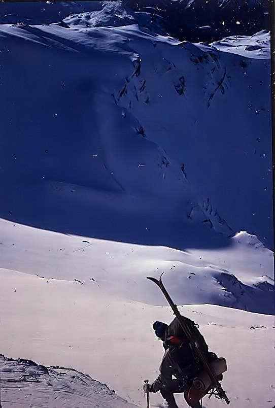 Descending Lemon Glacier Ridge