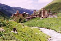 Ushguli s lower village, Svaneti