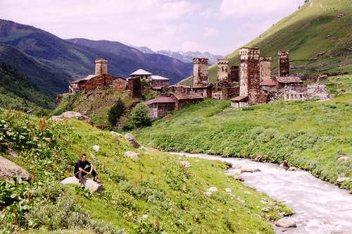 Ushguli\'s lower village, Svaneti