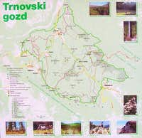 Map of Trnovski gozd