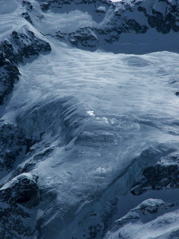 Middle hanging glacier