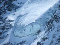 Upper hanging glacier