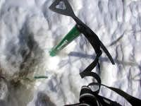 Oh oh! A crevasse!. 13 Feb 2003