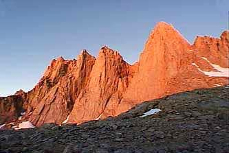 Mt. Whitney , Keeler and Day Needle at Sunrise