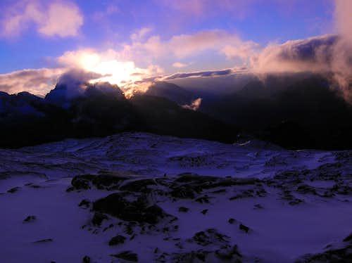 Sahale Glacier Campsite Sunrise