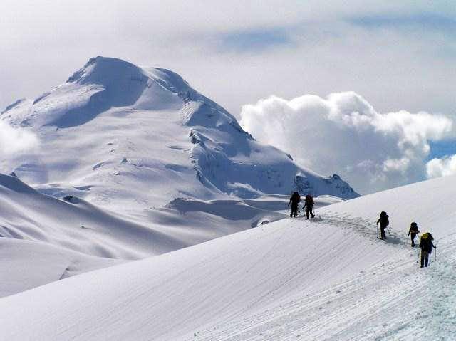 Mount Baker in Winter from Ptarmigan Ridge