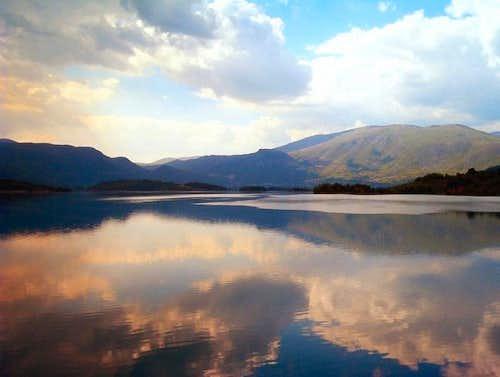 Radusa - view  accross the  Rama lake
