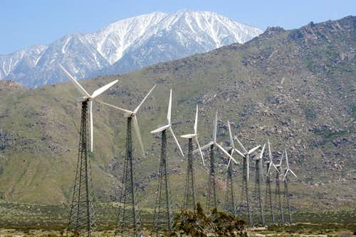 San Jacinto from White Water (San Gorgonio Pass wind farm)